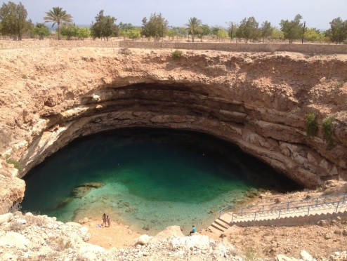 The sinkhole by Michael Helfrick