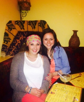 Jessica and I at Pavo Real, the Mexican Restaurant